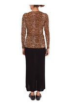 Peter Cohen - Copper Tulle Leopard Print Long Sleeve Top