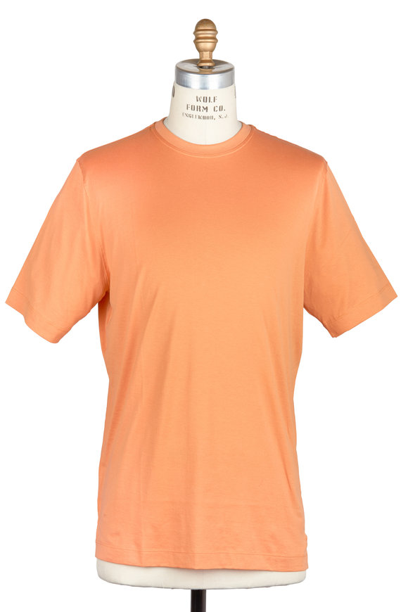 Left Coast Tee Orange Cotton T-Shirt