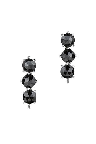 Paolo Costagli - White Gold Black Diamond Drop Earrings