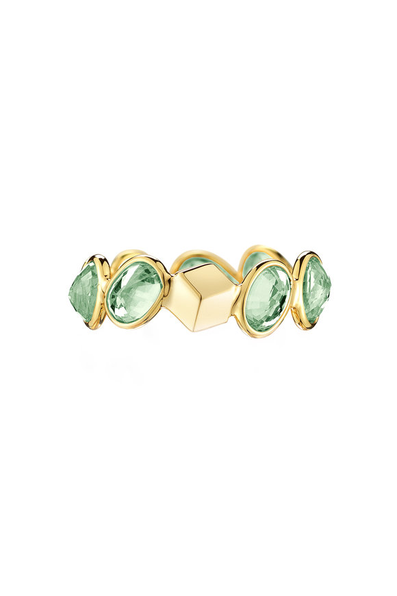 Paolo Costagli Yellow Gold Ombré Green Sapphire Ring