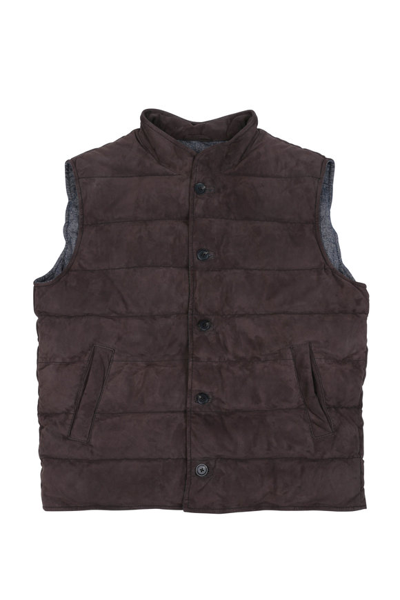 Altea Light Brown Suede Vest