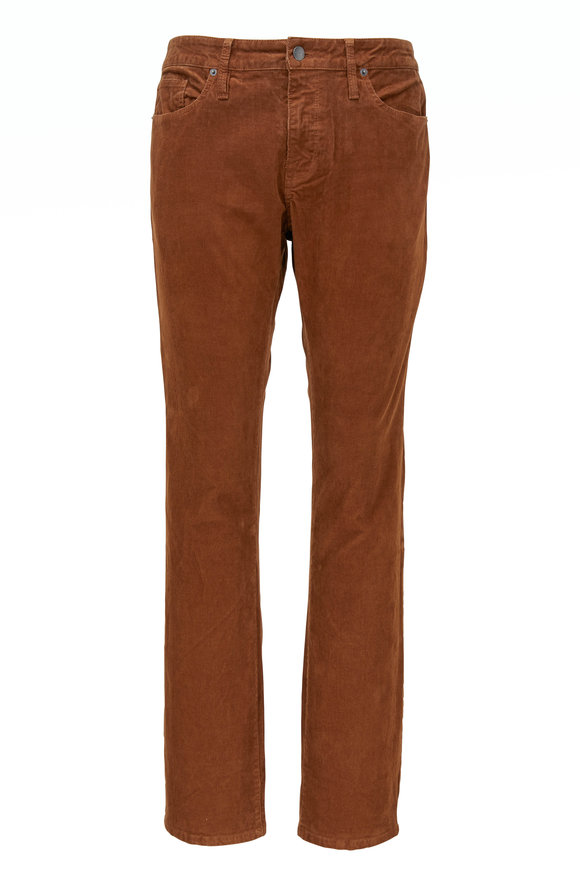 Frame L'Homme Brown Corduroy Slim Fit Pant