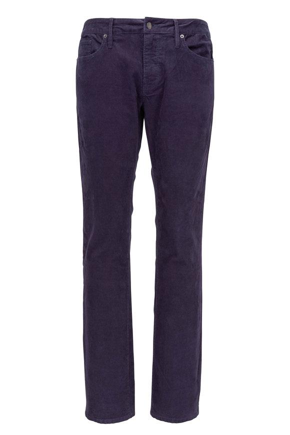 Frame L'Homme Navy Corduroy Slim Fit Pant