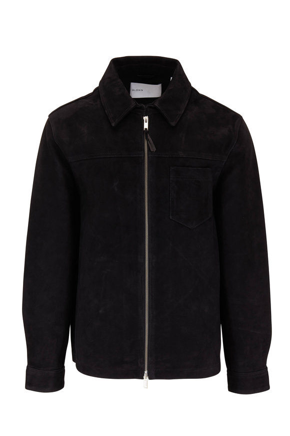 BLDWN Sedgwick Black Suede Jacket