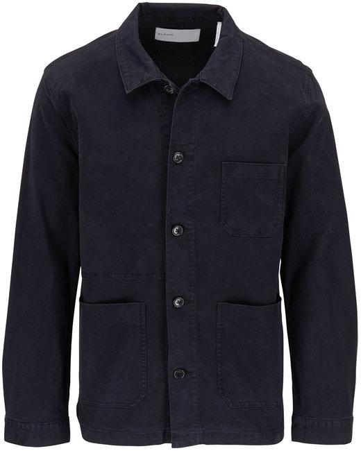BLDWN Herko Black Front Button Jacket