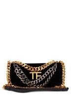 Tom Ford - Triple Chain Black Velvet Small Bag
