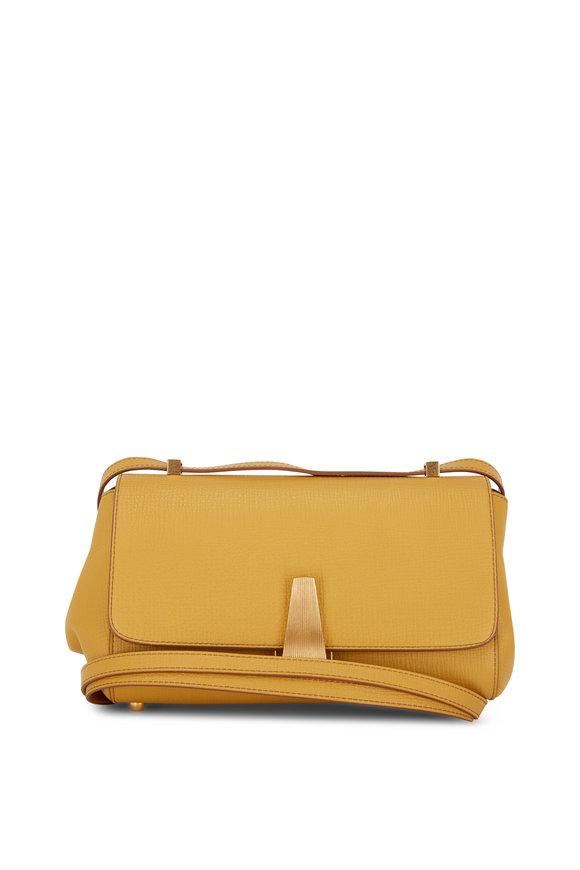 Bottega Veneta BV Angle Deep Yellow Front Flap Bag