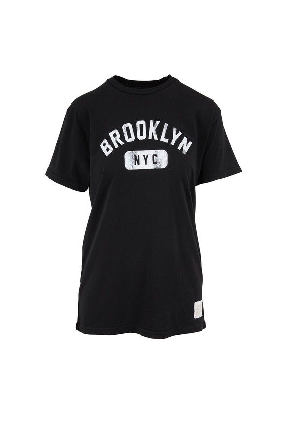 Retro Brand Black Brooklyn Graphic T-Shirt