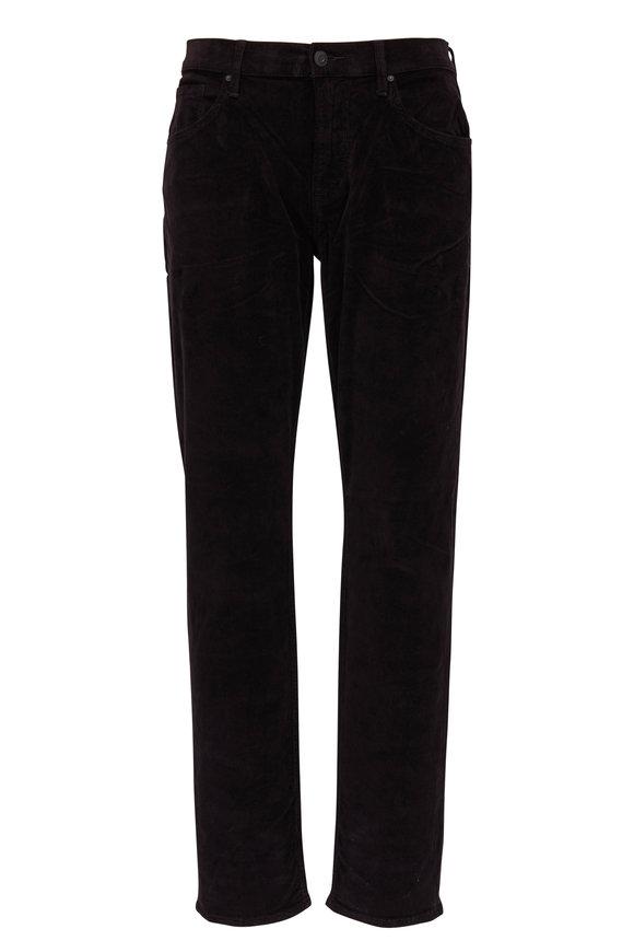 Hudson Clothing Blake Black Slim Straight Corduroy Jean