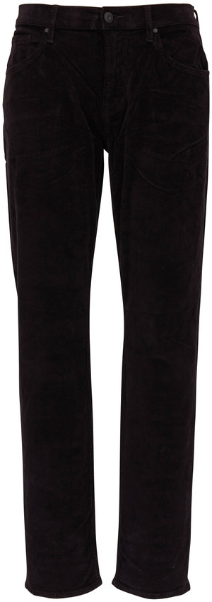 Hudson Clothing Blake Black Slim Straight Corduroy Jean
