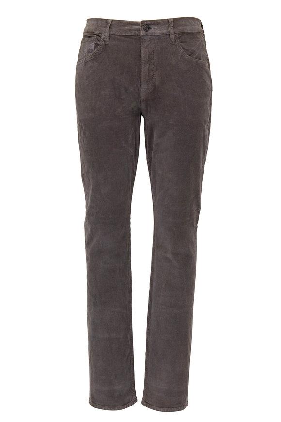 Hudson Clothing Blake Dark Gray Slim Straight Corduroy Jean