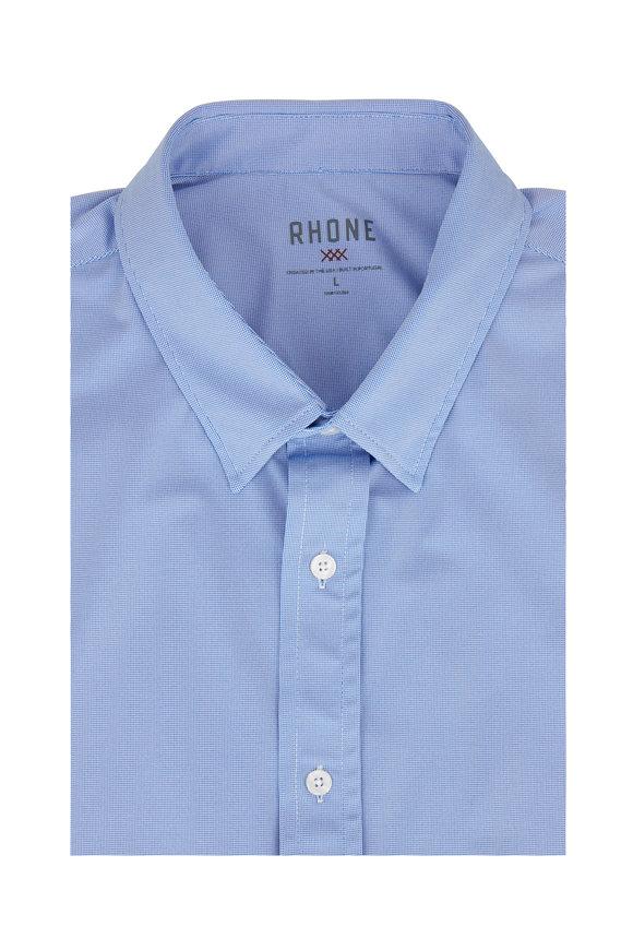 Rhone Apparel Commuter Blue Birdseye Performance Dress Shirt