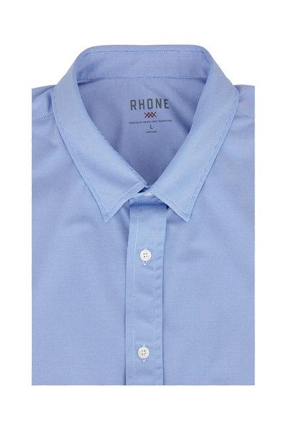 Rhone Apparel - Commuter Blue Birdseye Performance Dress Shirt