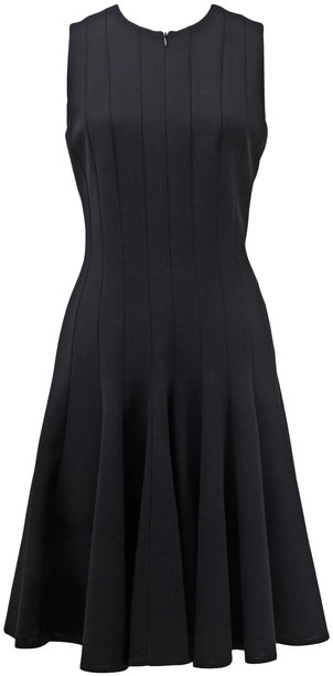 Akris Black Front Zip Sleeveless Dress