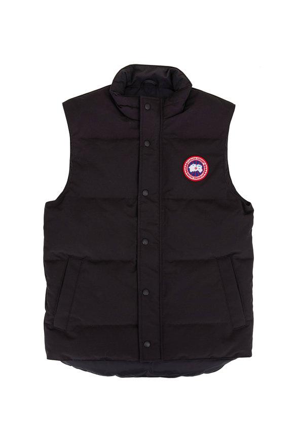Canada Goose Garson Black Puffer Vest