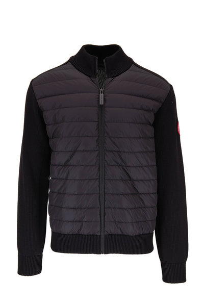 Canada Goose - Black Hybridge Quilted Front Knit Jacket