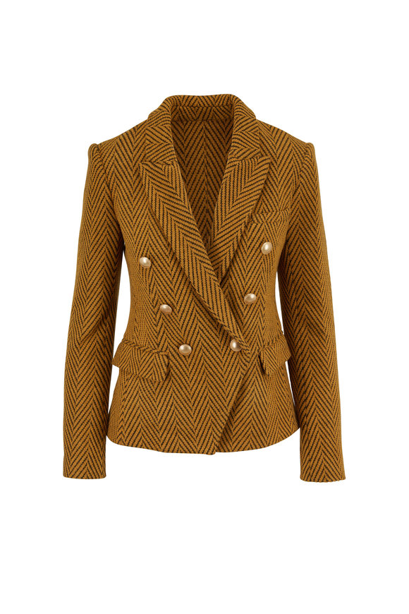 L'Agence Kenzie Gold Double-Breasted Jacket