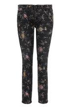 R13 - Kate Light Floral Cropped Skinny Jean
