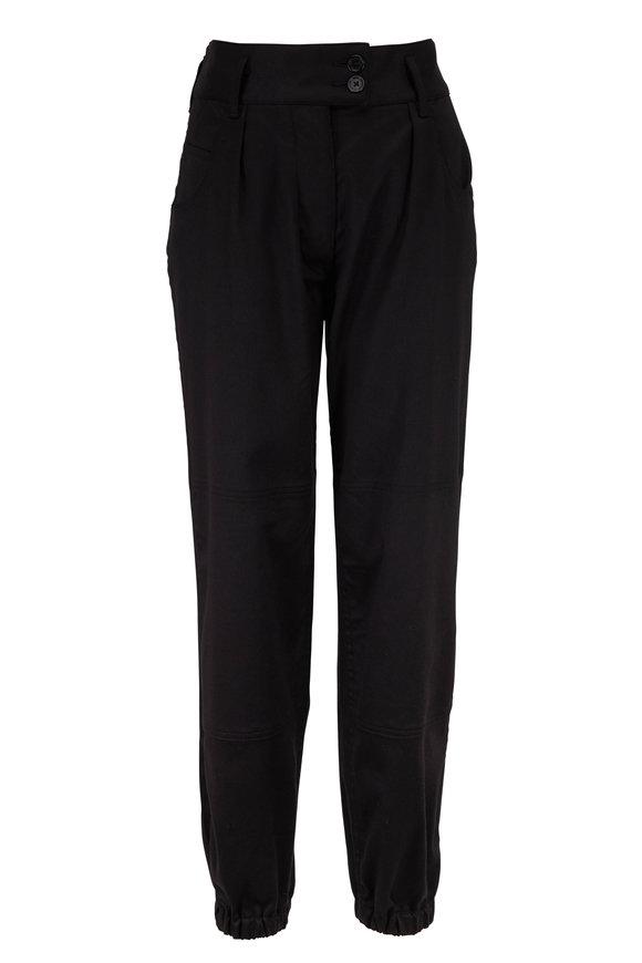 Nili Lotan Black Stretch Cotton Military Pant