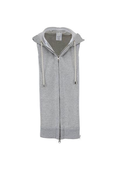 Veronica Beard - Gray Cotton Fleece Hooded Dickey