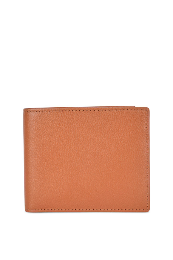 Ettinger Leather Capra Tan Leather Billfold Wallet