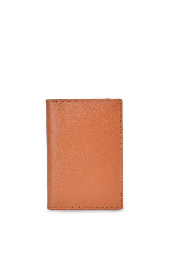 Ettinger Leather Tan Leather Passport Holder