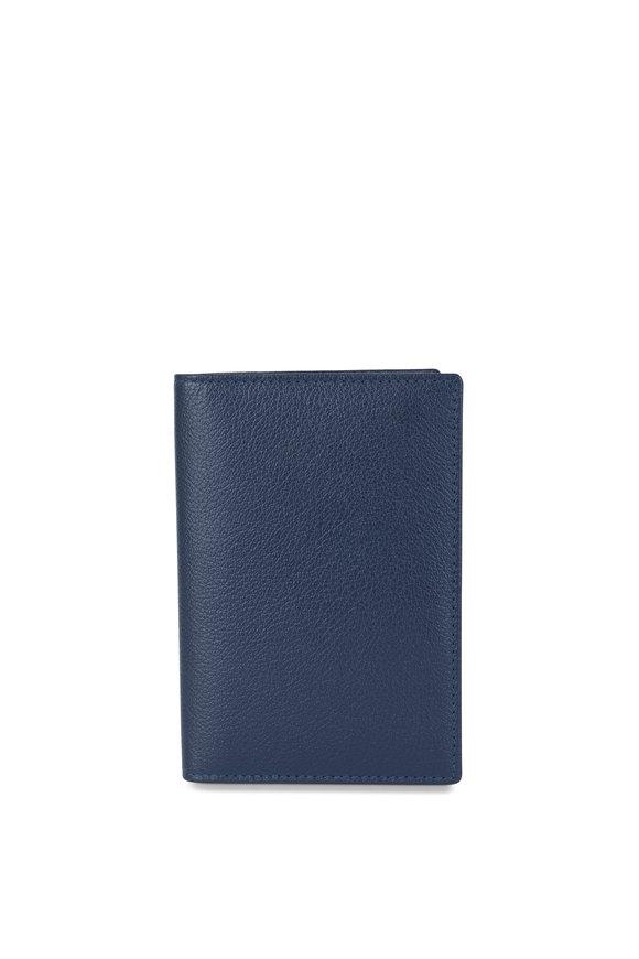 Ettinger Leather Marine Blue Leather Passport Holder