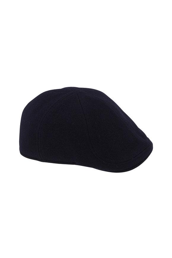 Wigens Navy Wool Pub Cap