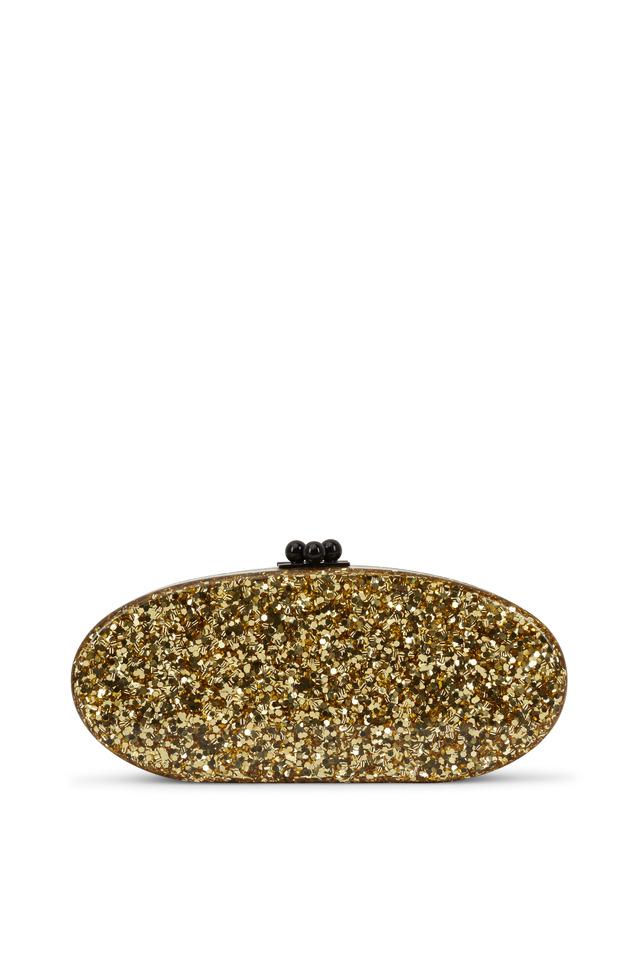 Gold Confetti Acrylic Clutch