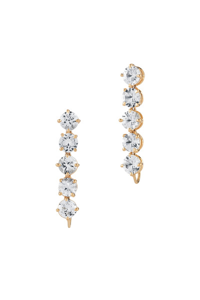 Paolo Costagli - Yellow Gold White Sapphire Earrings