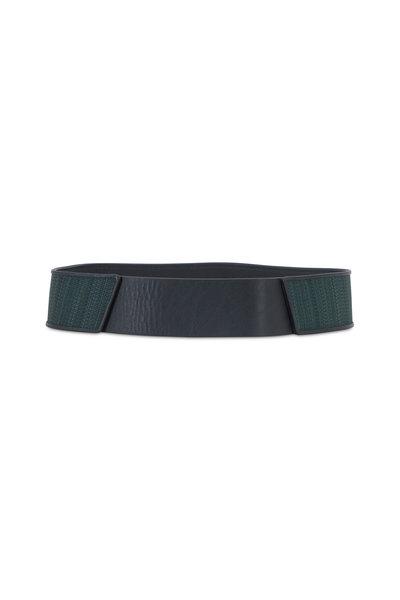 Akris - Pine Leather & Horsehair Belt
