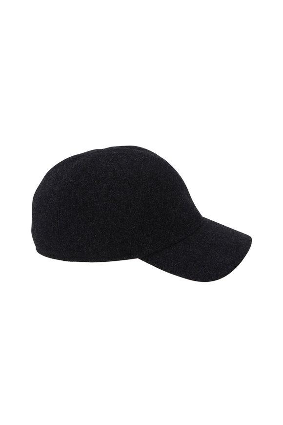 Wigens Gray Wool Earflap Cap