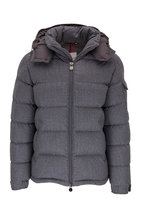 Moncler - Montgenevre Charcoal Gray Quilted Puffer Jacket
