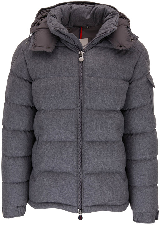 Moncler Montgenevre Charcoal Gray Quilted Puffer Jacket