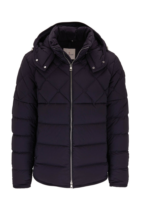 Moncler Cecaud Navy Hooded Puffer Jacket