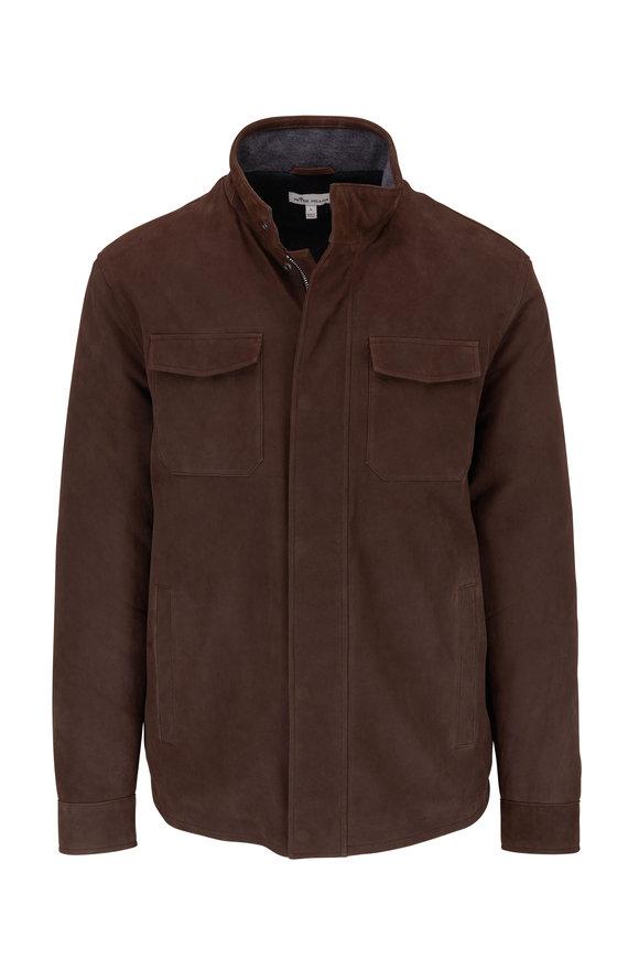 Peter Millar Brown Nubuck Field Jacket