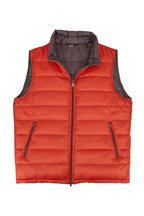 Herno - Orange & Gray Reversible Quilted Puffer Vest