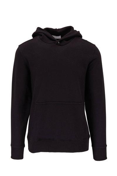 BLDWN - Cale Black Textured Knit Hooded Sweatshirt