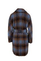 Vince - Azurite Plaid Belted Coat