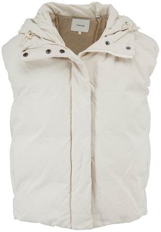 Vince Light Fawn Hooded Puffer Vest