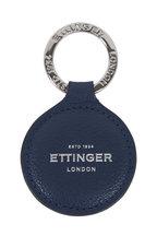 Ettinger Leather - Navy Leather Round Key Fob