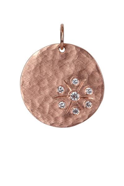 Julez Bryant - 14K Rose Gold Starburst Smasher Pendant