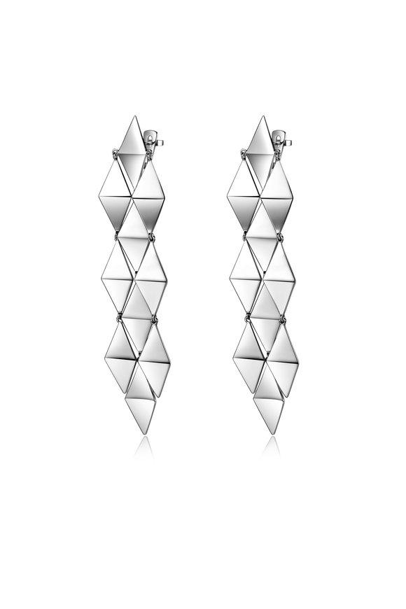 Pianegonda Sterling Silver Planus Drop Earrings