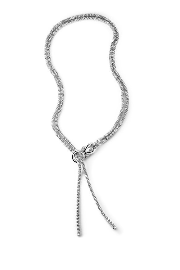 Pianegonda Sterling Silver Foedus Tassel Necklace