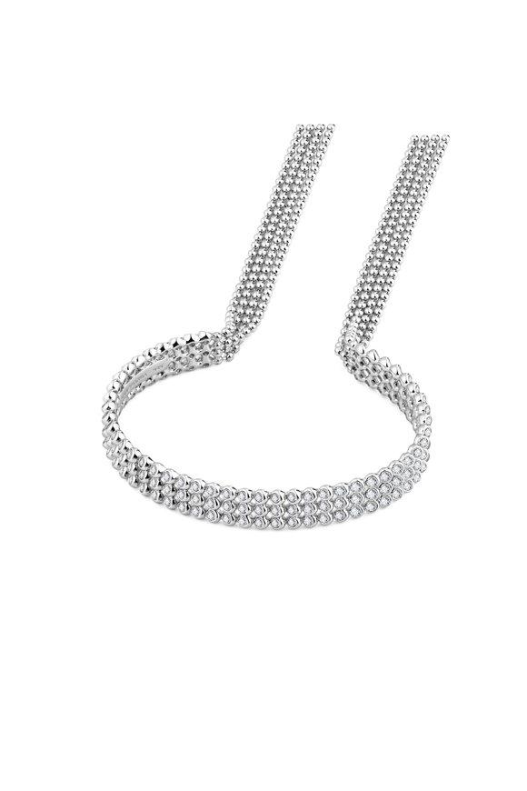Pianegonda Sterling Silver Eclipsis White Topaz Bracelet
