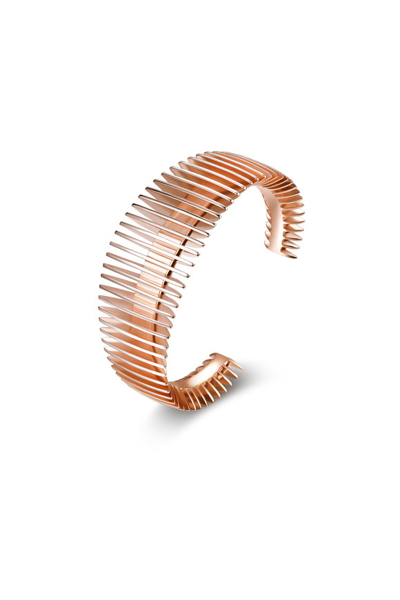 Pianegonda Rose Gold Plated Dorifora Cuff