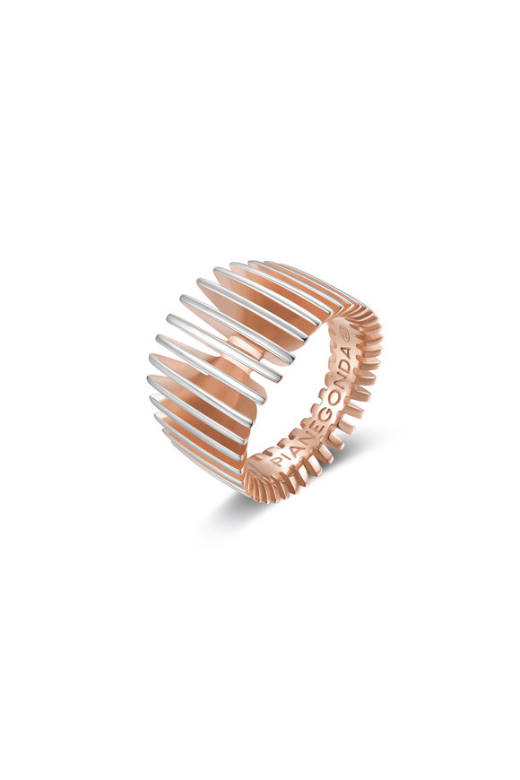 Pianegonda Rose Gold Plated Dorifora Ring