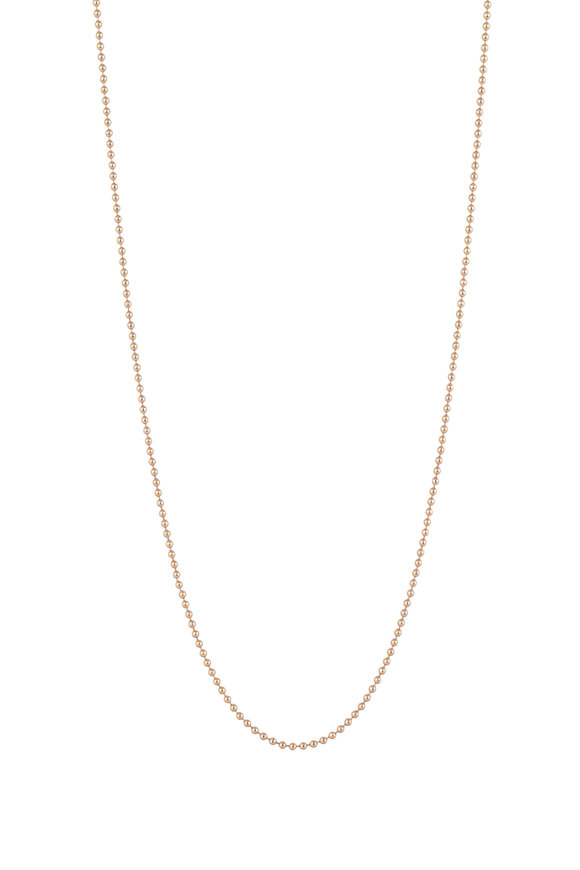 Julez Bryant 14K Rose Gold Ball Chain Necklace, 1.5mm
