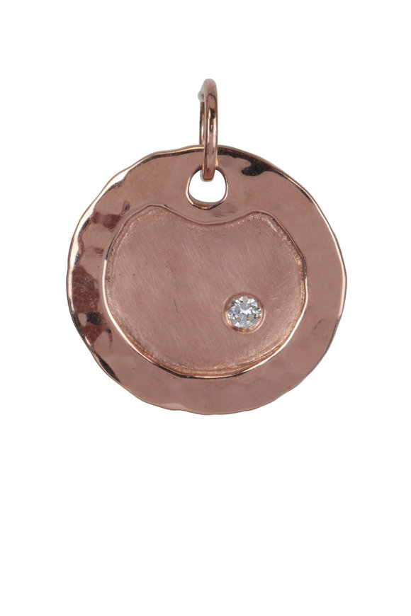 Julez Bryant 14K Rose Gold Salk Medium Hammered Dogtag