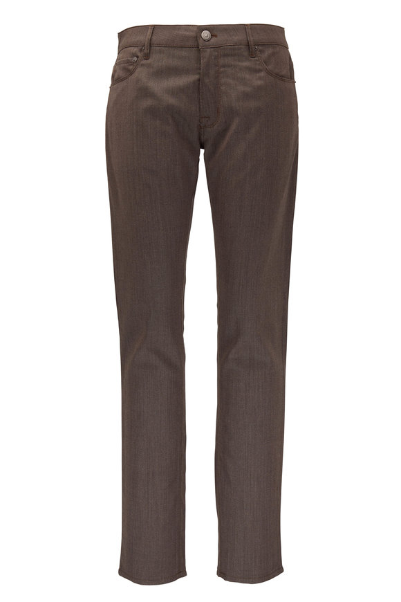 PT Torino Light Brown Wool Blend Five Pocket Pant
